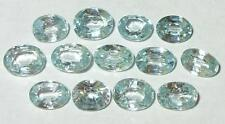 7.58ct Lot 13 Beautiful Cambodian Sky Blue Zircon Oval Cuts SPECIAL