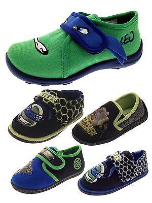Niños CHICOS Teenage Mutant Ninja Turtles Zapatillas mulas Tmnt Zapatos Talla Uk 7 - 1