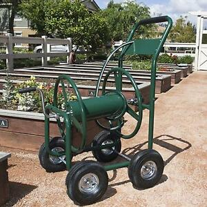 Best Choice Products Water Hose Reel Cart 300 FT Outdoor Garden Heavy Duty  Yard