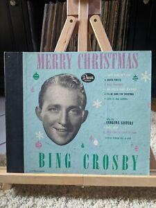 BING CROSBY Merry Christmas 1947 4x 78 ALBUM Decca A-550 VG+   eBay