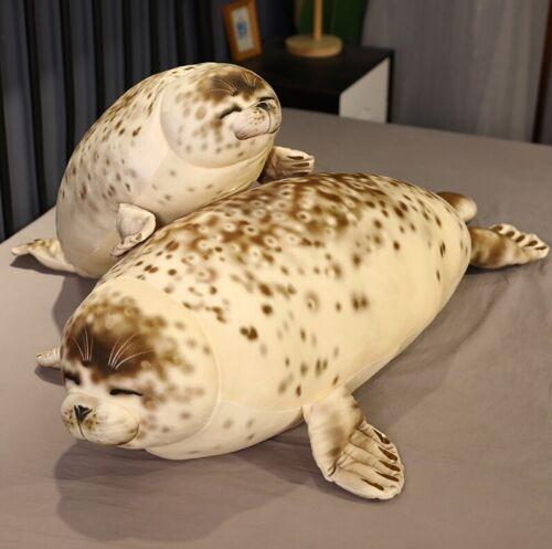 Aquarium Chubby Seal Plush Stiffed Pillow Cute Fat Seal Animal Kids Doll Gift