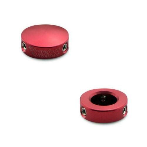 Set of 2 Barefoot Buttons Low-Profile Version 1 Mini Red