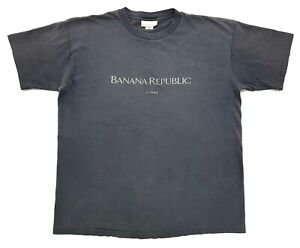 Vintage-Banana-Republic-Miami-Tee-Black-Size-M-Single-Stitch-T-Shirt