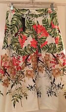 NWT Talbots 16W Tropical Flower Lined Pleated Skirt