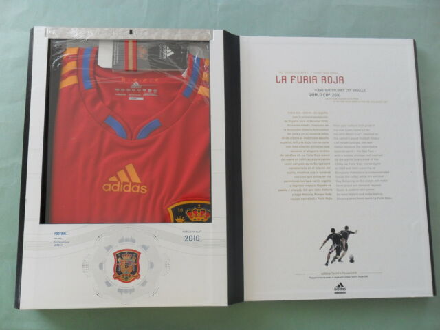 37b8d201571 LIMITED EDITION~Adidas SPAIN TECHFIT 2010 WORLD CUP Futbol Soccer Shirt  Jersey-L
