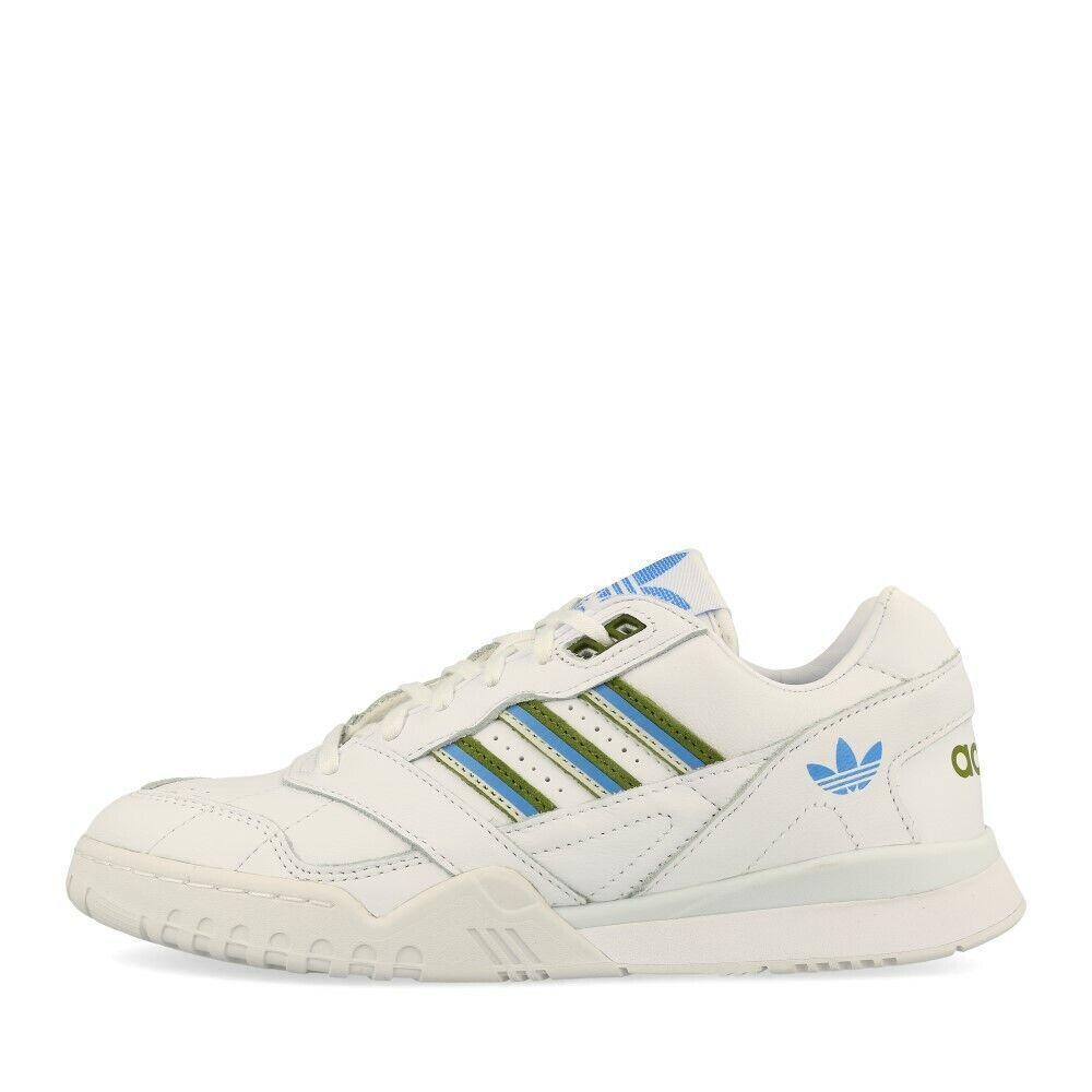 Adidas A.R. Trainer W Weiß Tech Olive Real Blau Schuhe Turnschuhe Weiß Grün Blau