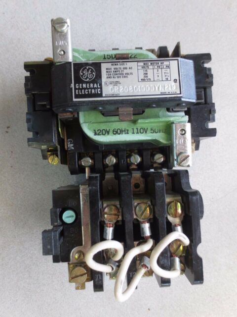 600V Starter General Electric CR306C0**ABMA Nema Size 1 27A