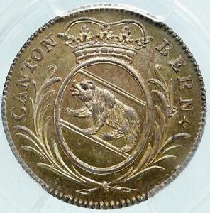 1808 SWITZERLAND Canton of BERN Old Antique Swiss Silver 5 Batz PCGS Coin i86444