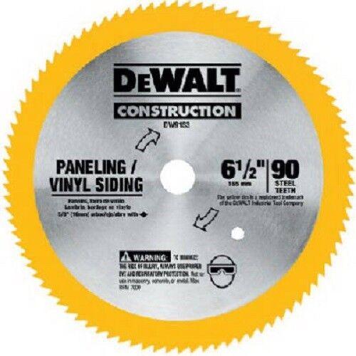 """DW9153 6-1//2/"""" 90 Teeth Dewalt Vinyl//Paneling Steel Circular Saw Blade"""