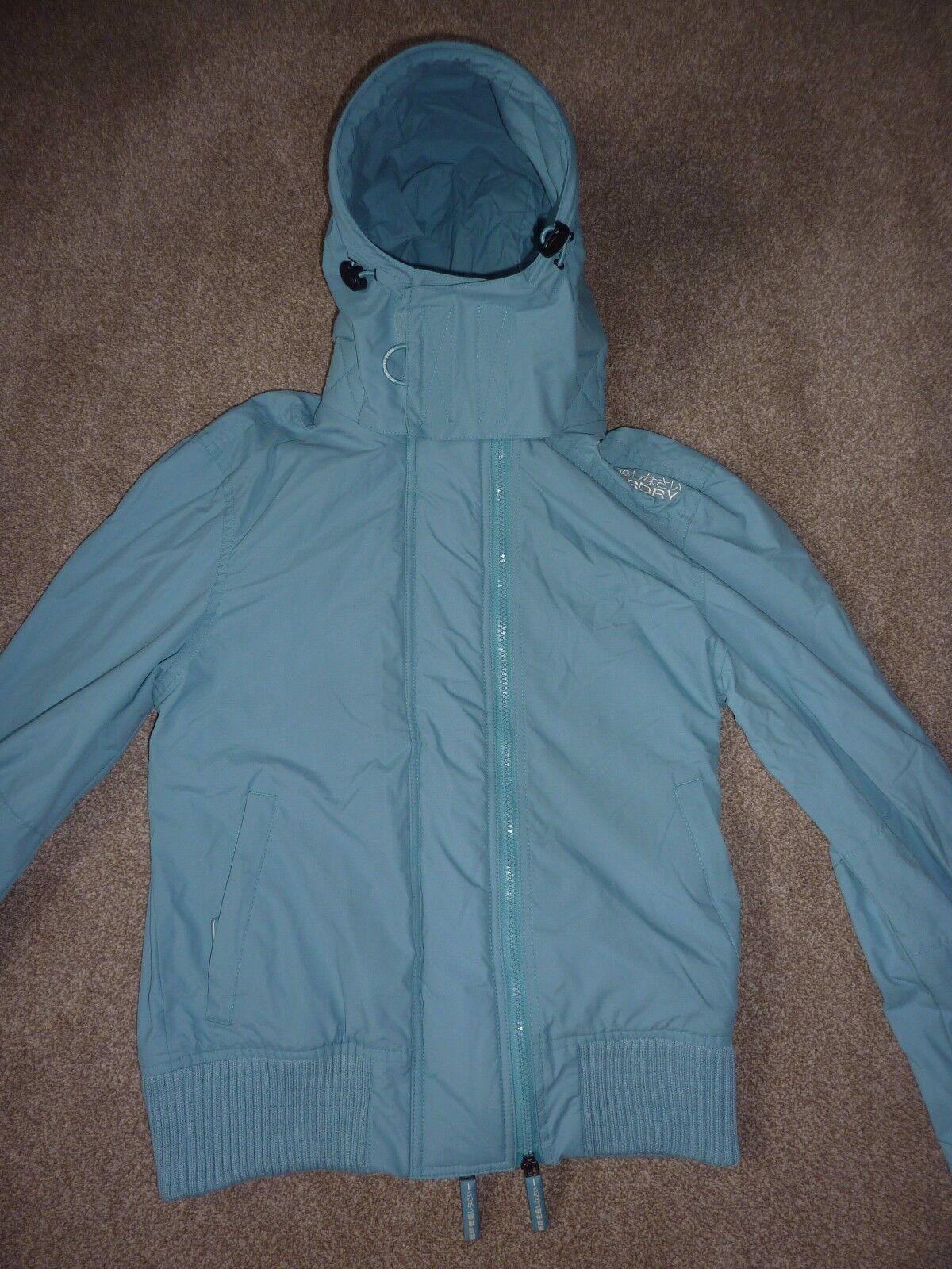 Superdry the windbomber turquoise bluee coat, anorak. Size M medium