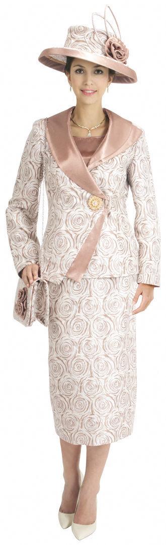 New Lynda's Classic Flower Swirl Print Design Ladies 3 Piece Dress Set 365