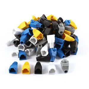 Uxcell-100x-PLASTICA-MORBIDA-Connettore-Cavo-Ethernet-rj45-Stivali-TAPPI-TAPPO-COPERCHIO