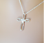 """thumbnail 2 - 925 Sterling Silver Cross Pendant Necklace Religious Inspirational  CZ 18""""  NWT"""