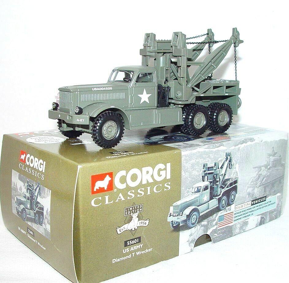 Corgi Clásicos 1 50 US Army Diamante T grúa rosso Ball Express vía camión Menta en caja