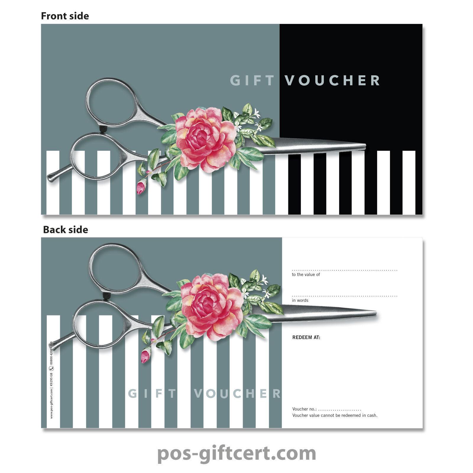 Gift vouchers for hair salons, hairdressers, hairstylists K9295GB   Adoptieren    Kunde zuerst