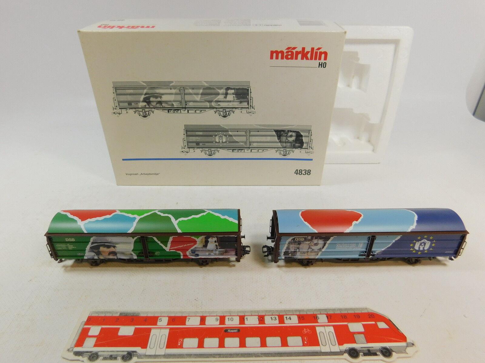 Au21-1  Märklin Marklin H0 AC 4838 Wagon Set Arbeitswelt DSB NEM KK, NIP