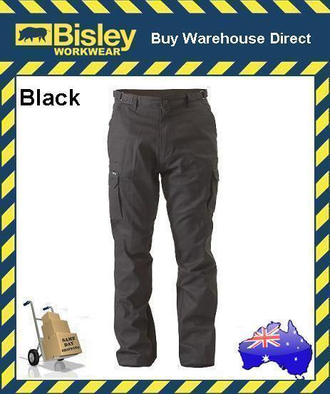 Bisley Workwear 8 Pocket Cargo Cotton Drill Men's Work Trousers Pants BPC6007