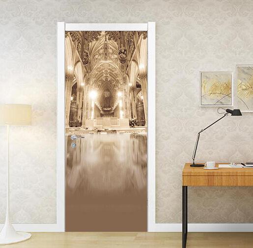 3D Korridor 48 Tür Mauer Wandgemälde Foto Wandaufkleber AJ WALL DE Lemon
