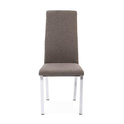 Pack 2 sillas de comedor, silla de diseño tapizada para salón 3 colores, Trieste