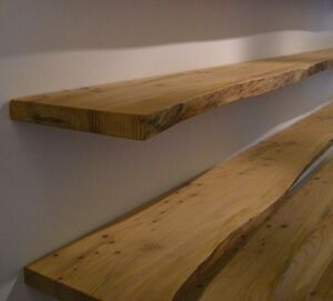 mensole in cedro in legno massello scorniciate 120x25 cm