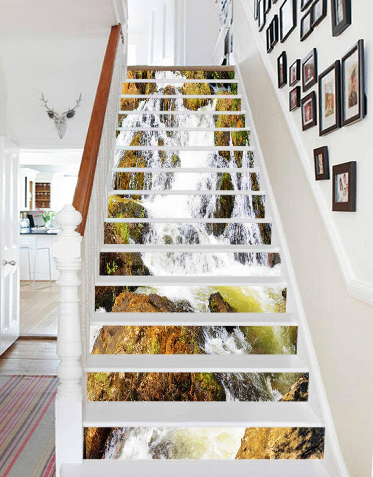 3D Strom Natur 8573 Stair Risers Dekoration Fototapete Vinyl Aufkleber Tapete DE