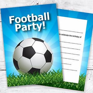 kids football party invites kids birthday invitations a6