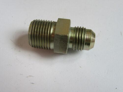 Parker 1//2 npt mâle x jic 9//16-18 mâle droit adaptateur hydraulique mamelon #23A218