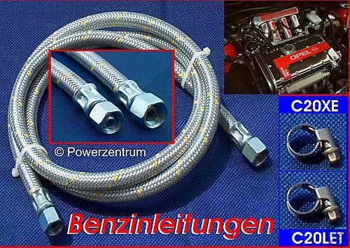 Benzinleitung Opel VECTRA A Turbo Einspritzleiste Motor Stahlflex C20LET