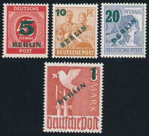 BERLIN-MiNr-64-67-postfrisch-gepr-Schlegel-Mi-250