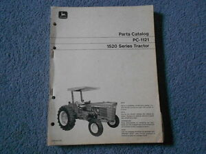 1970 John Deere 1520 Tractor Parts List Illustrated