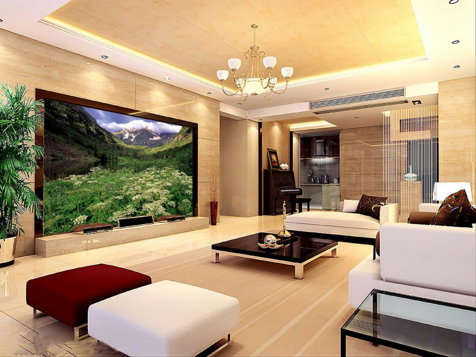 3D Hills Grün leaves 266 Wall Paper Wall Print Decal Wall Indoor Murals Wall US