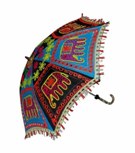 Wholesale Lot 10 PC Decorative Indian Umbrella Traditional Vintage Sun Parasol