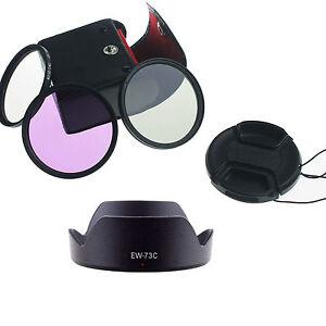 FOR-Canon-EF-S-10-18mm-f-4-5-5-6-IS-STM-Lens-UV-CPL-FLD-Filter-Kit-EW-73C-Hood