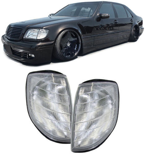CLEAR INDICATORS LIGHTS FOR MERCEDES S CLASS W140 1991-1998 SALOON NICE GIFT