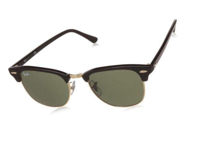 Ray-Ban 3016 Clubmaster Classic Sunglasses - Black gold   eBay e44317d4f821