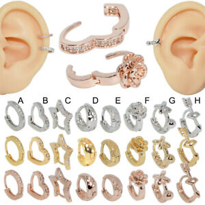 Zircon-Stud-Ear-Clip-Tragus-Cartilage-Helix-Earring-Fashion-Ear-Piercing-Jewelry
