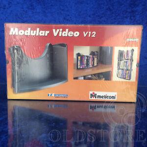 MELICONI-CD-C-36-E-V-12-SCAFFALE-PORTA-CD-E-VIDEO-MODULAR-VIDEO