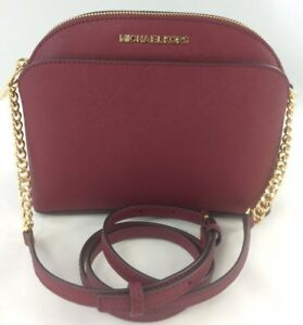 b83e546bda Image is loading NEW-Authentic-Michael-Kors-Emmy-Medium-Crossbody-Shoulder-