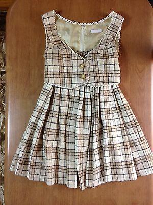 LIZ LISA Plaid Beige Mini Dress