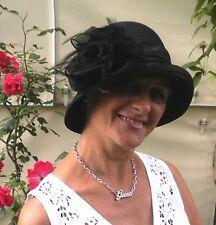 Damenhut Anlasshut romantischer Glockenhut Schwarz Trauer Hochzeit  Anlasshüte