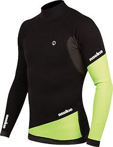 Blk/Green - Nookie Ti Vest Long Sleeve-1mm Neo Top-Kayak/Surf<wbr/>/SUP/Wetsuit Jacket