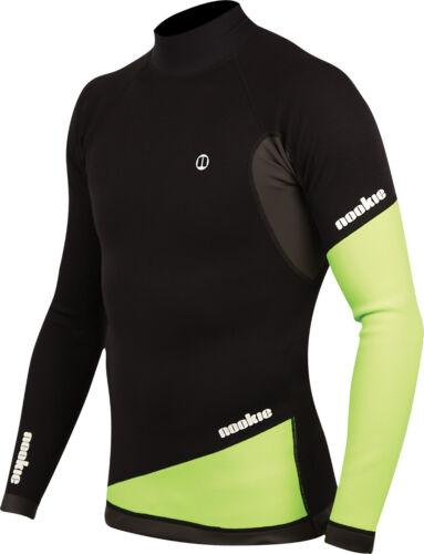 Blk/Green - Nookie Ti Vest Long Sleeve-1mm Neo Top-Kayak/Surf/SUP/Wetsuit Jacket
