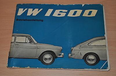 Treu Ba Bedienungsanleitung Betriebsanleitung Vw 1600 54ps 1584cm³ 1965 Auto & Verkehr