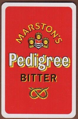 Playing Cards 1 Single Playing//Swap Card Vintage MARSTON'S PEDIGREE BITTER Beer