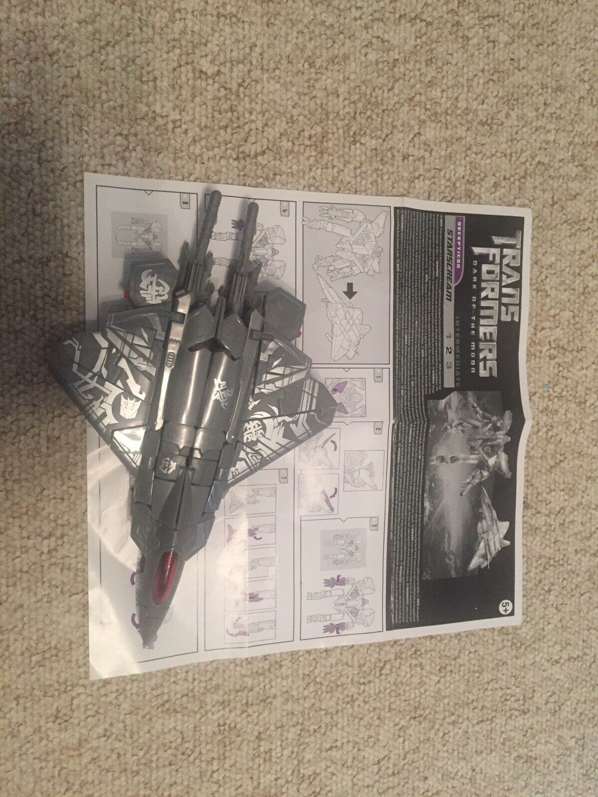 Transformers 2010 Starscream Leader class Complete with with with instructions 4755e6