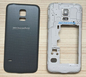new product 2abd4 c20a2 Details about REAR BATTERY BACK COVER- MIDDLE FRAME HOUSING For Samsung  GALAXY S5 mini G800F
