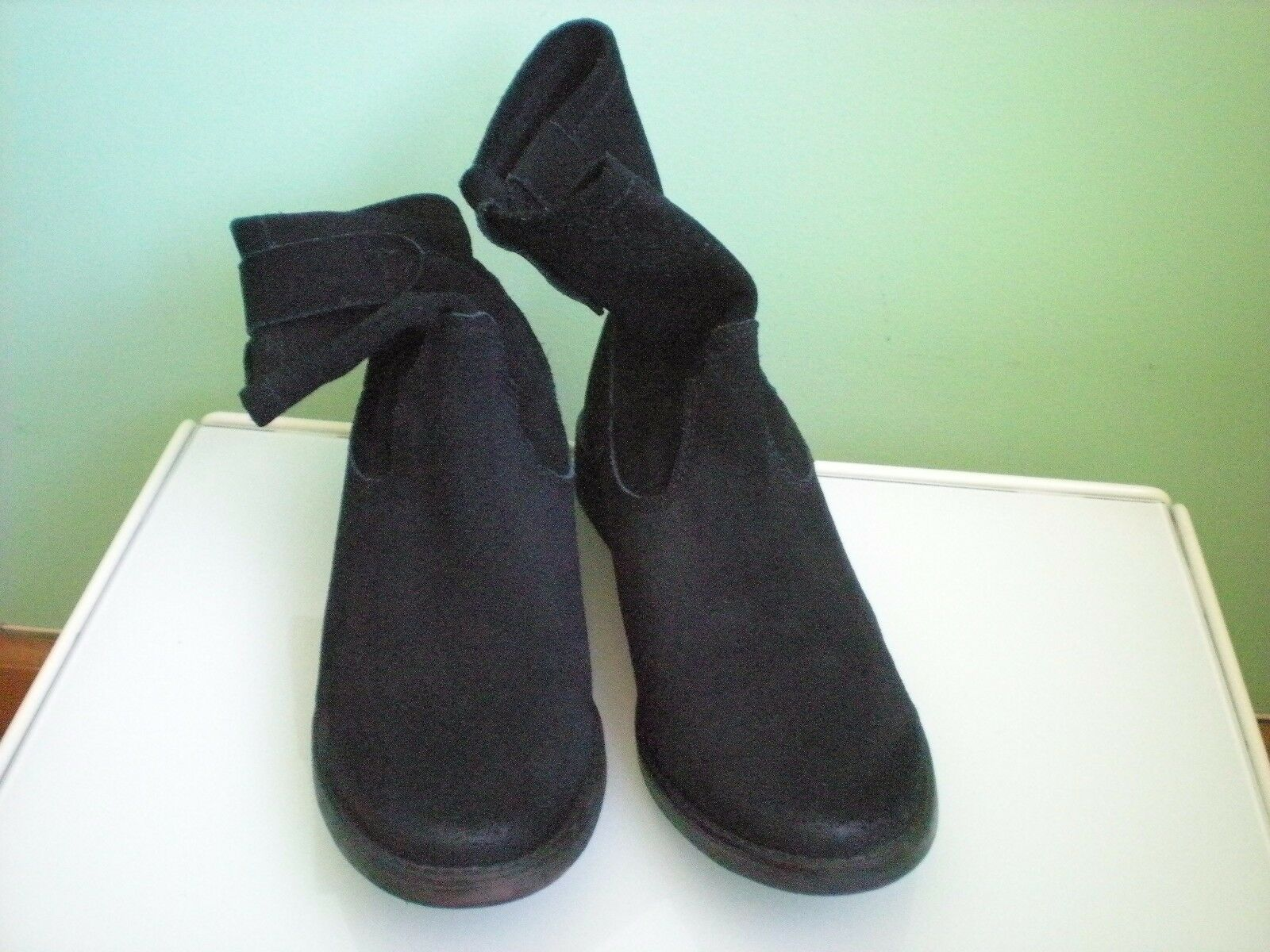 ZIGI Black Suede Leather Slip On  Ankle Boots SZ 8.5