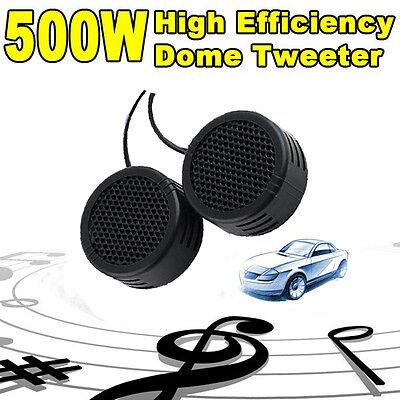 2 x 500 Watts Super Power Loud Dome Tweeter Speakers Lautsprecher For Auto 500W