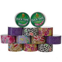 12 Rolls Printed Duck Brand Duct Tape Patterned Arts Craft Project Diy 120 Yards on sale