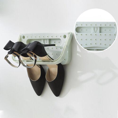 Hanging Shoe Organizer Rack Wall-mounted Folding Shoe Shelf Holder for Home
